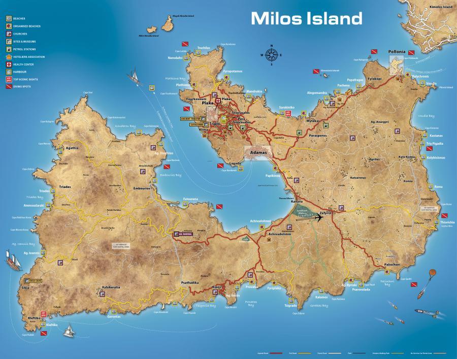 SkyMapGrMilos Island Map