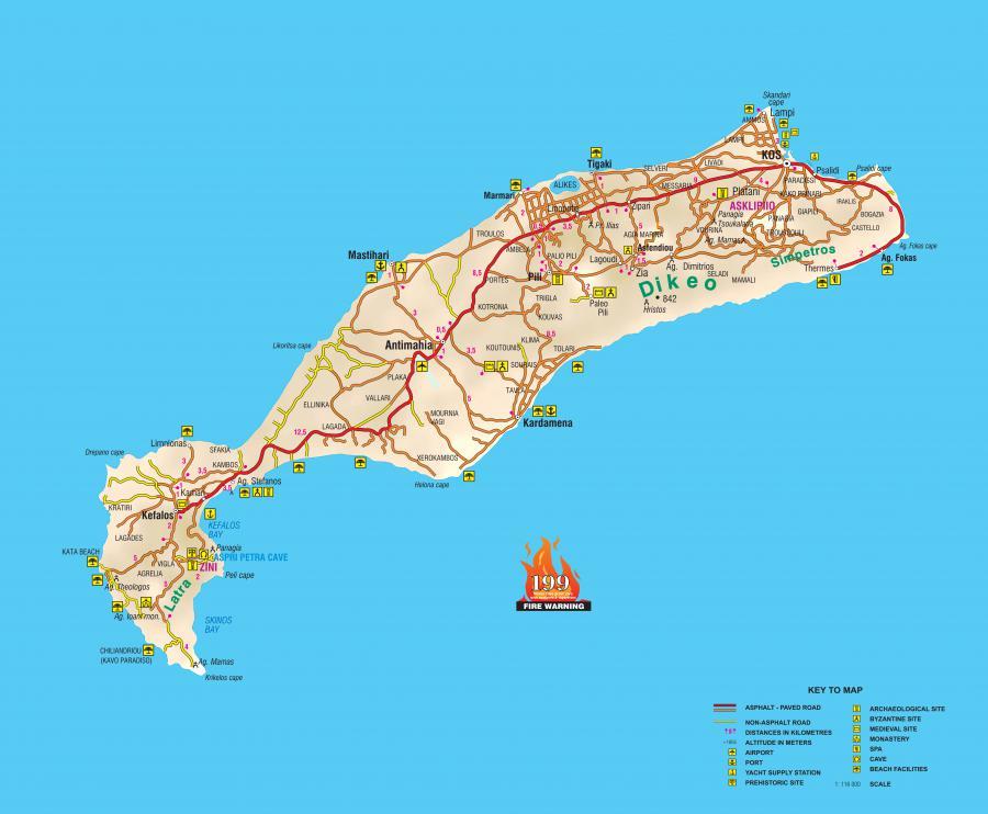 SkyMap.Gr-Kos Island MapMarmari Go Kart